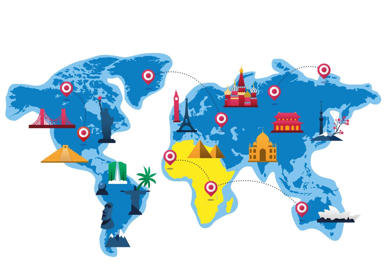 mappa dell'africa trinketto nel mondo