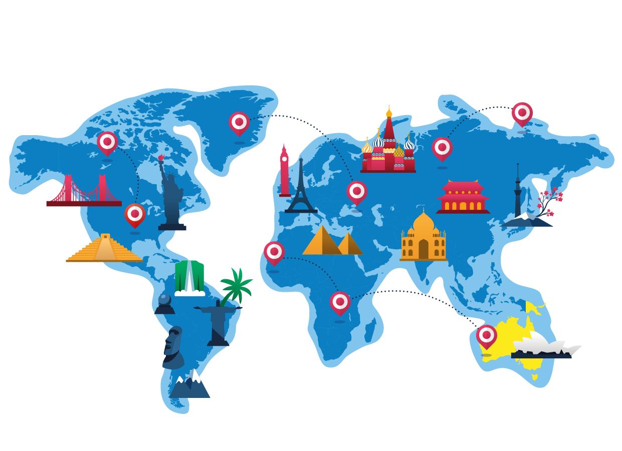 mappa oceania trinketto nel mondo