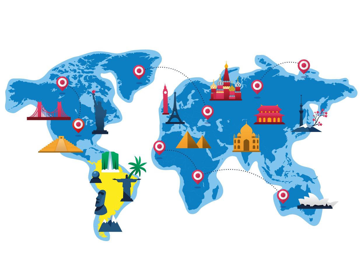mappa sud america trinketto nel mondo